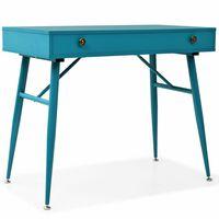 vidaXL Pisalna miza s predalom 90x50x76,5 cm antično zelena
