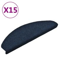 vidaXL Samolepilne preproge za stopnice 15 kosov mor. modre 65x21x4 cm
