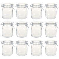 vidaXL Stekleni kozarci z zapiralom 12 kosov 1 L