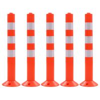 vidaXL Cestni stebriček 5 kosov plastika 75 cm