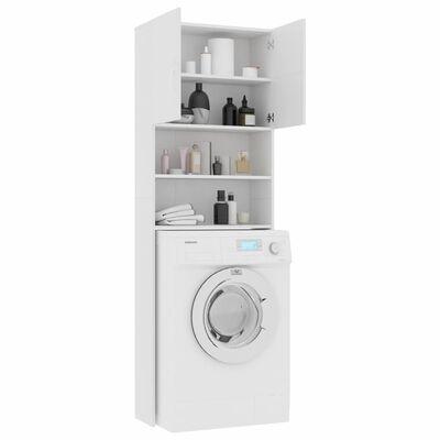 vidaXL Omara za pralni stroj bela 64x25,5x190 cm iverna plošča