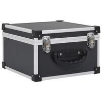 vidaXL CD kovček za 40 CD-jev iz aluminija ABS črn