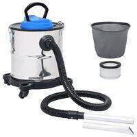 vidaXL Vakuumski sesalnik za pepel HEPA filter 1200 W 20 L jeklen