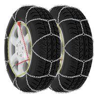 vidaXL Snežne verige za avtomobilske pnevmatike 2 kosa 9 mm KN80