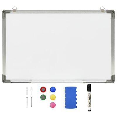 vidaXL Magnetna piši-briši tabla bela 60x40 cm jeklo