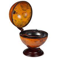 vidaXL Namizni globus z barom / stojalo za vino les evkaliptusa