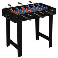 vidaXL Mini miza za namizni nogomet 69x37x62 cm črna