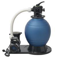 vidaXL Črpalka s peščenim filtrom 1000 W 16800 L/h XL