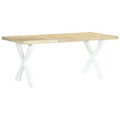 vidaXL Jedilna miza 180x90x76 cm trden mangov les