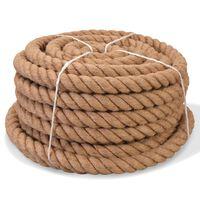 vidaXL Vrv iz 100 % jute 14 mm 100 m