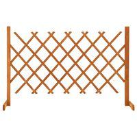 vidaXL Vrtna mrežasta ograja oranžna 120x90 cm les jelke
