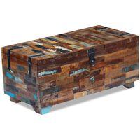vidaXL Klubska mizica skrinja trden predelan les 80x40x35