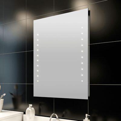 Stensko Kopalniško Ogledalo z LED Lučmi 60 x 80 cm