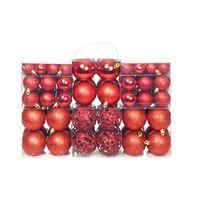 vidaXL Božično novoletne kroglice 100-delni komplet 6 cm rdeče