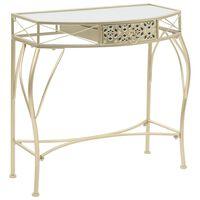 vidaXL Stranska mizica v francoskem stilu iz kovine 82x39x76 cm zlata