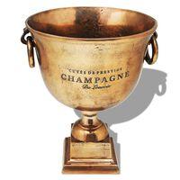 vidaXL Pokal za Hlajenje Šampanjca Baker Rjave Barve