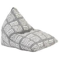 vidaXL Sedežna vreča sivo blago