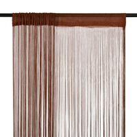 vidaXL Zavese iz nitk 2 kosa 100x250 cm rjave barve