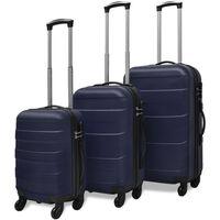 vidaXL Tri Delni Komplet Trdih Potovalnih Kovčkov Modre Barve