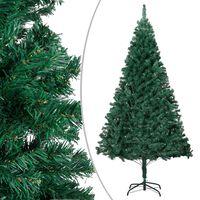 vidaXL Umetna novoletna jelka z debelimi vejami zelena 240 cm PVC