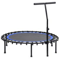 vidaXL Fitnes trampolin z ročajem 122 cm