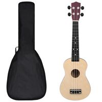 """vidaXL Otroški ukulele soprano s torbo svetel les 23"""""""
