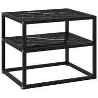 vidaXL Konzolna mizica črna 50x40x40 cm kaljeno steklo