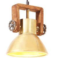 vidaXL Industrijska viseča svetilka 25 W medeninasta okrogla 19 cm E27