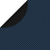 vidaXL Plavajoča PE solarna folija za bazen 250 cm črna in modra