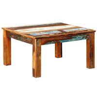 vidaXL Klubska mizica kvadratna iz predelanega lesa