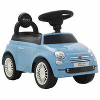 vidaXL Otroški avtomobil Fiat 500 modre barve