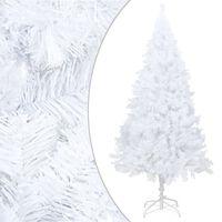 vidaXL Umetna novoletna jelka z debelimi vejami bela 180 cm PVC