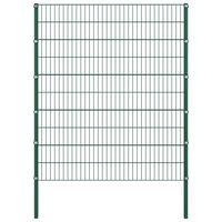 vidaXL Ograjni paneli s stebrički železo 1,7x2 m zeleni