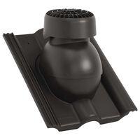 vidaXL Strešni ventilator črn