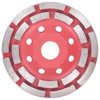 vidaXL Diamantna plošča za brušenje z dvema vrstama 115 mm