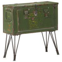 vidaXL Vojaška skrinja 68x24x66 cm železo