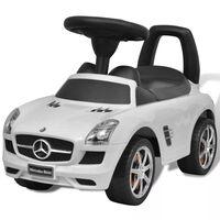 Beli Mercedes Benz Otroški Avto na Potiskanje
