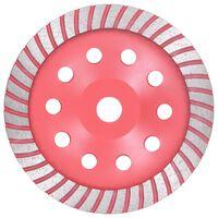vidaXL Diamantna plošča za brušenje s turbom 180 mm