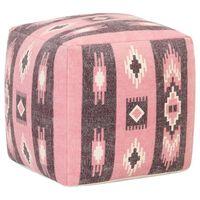 vidaXL Tabure s potiskanim dizajnom roza 45x45x45 cm bombaž