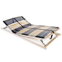 vidaXL Letveno dno za posteljo 42 letvic 7 con 120x200 cm