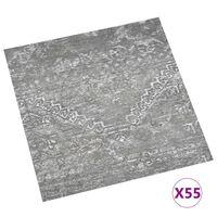 vidaXL Samolepilne talne plošče 55 kosov PVC 5,11 m² betonsko sive