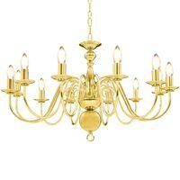vidaXL Lestenec zlat 12 x E14 žarnice