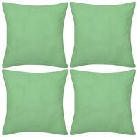 Prevleke za Blazine 40 x 40 cm 4 kosi Bombaž Zelene Barve