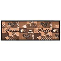 vidaXL Kitchen Carpet Washable Coffee brown 45x150 cm