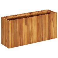 vidaXL Visoka greda 100x30x50 cm trden akacijev les