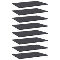 vidaXL Dodatne police za omaro 8 kosov sive 60x40x1,5 cm iverna plošča
