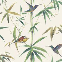 Noordwand Tapeta Kolibri and Bamboo bež