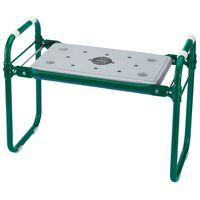 Draper Tools Zložljiv vrtni sedež/klečalnik iz železa zelen