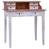 vidaXL Pisalna miza s predali 90x50x101 cm trden predelan les