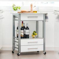 Excellent Houseware Kuhinjski voziček MDF bel